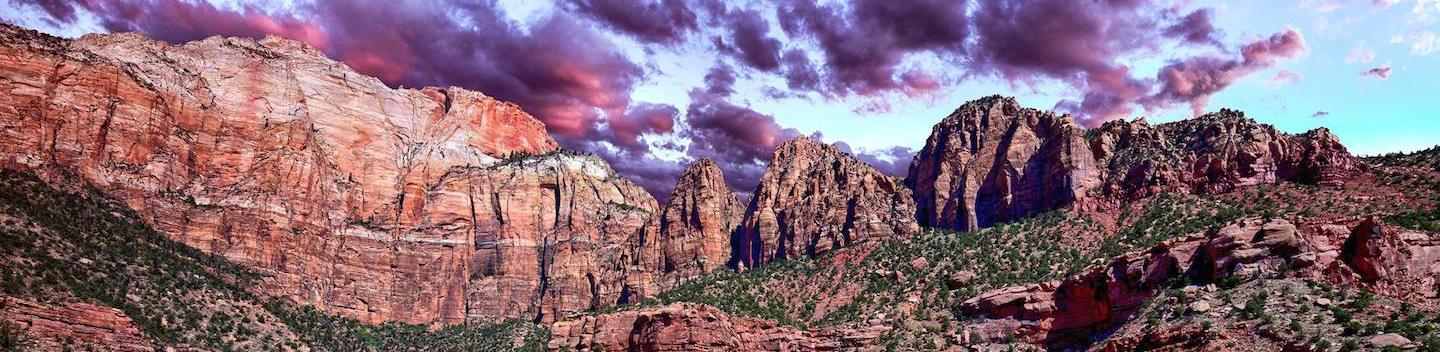 zion scenic sunset